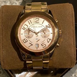 Large Michael Kors Statement Watch Rose Gold